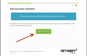 NETELLER verification - step 1