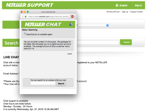 NETELLER Support - Live Chat - NETELLER Kontakt