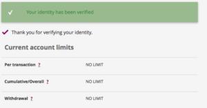 Skrill Verification unlimited transfers