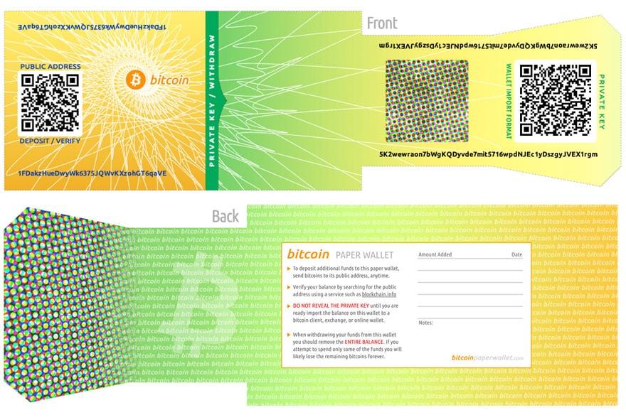 Bitcoin Wallet - Paper Wallet