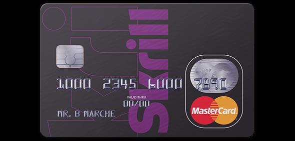 contactless Skrill MasterCard