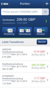 ecoPayz App - Übersicht