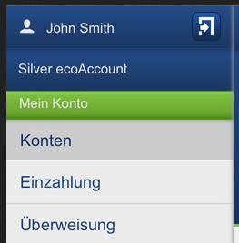 ecoPayz App - Überweisung