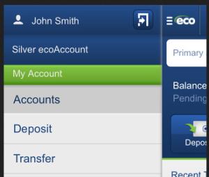 ecoPayz App - Transfer