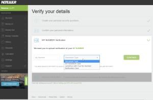 NETELLER Verification Japan - step 3