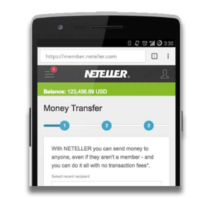 NETELLER Mobile App - Send Money