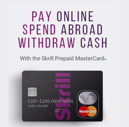 Paysafe and MasterCard - Skrill Prepaid Card