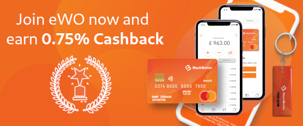 MuchBetter Cashback by eWO every month