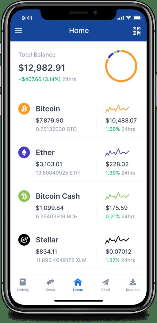 Мобильное приложение Blockchain