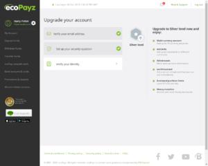 ecoPayz Verification - Upgrade your account