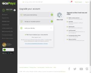 ecoPayz Verification - Confirmation