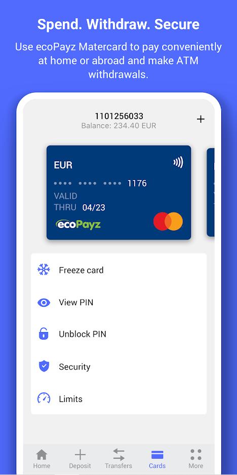 ecoPayz app card