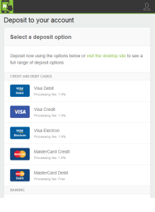 NETELLER App - Upload Funds