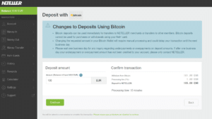 NETELLER Bitcoin - step 2
