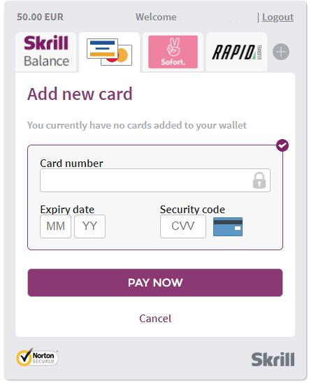 Skrill and NETELLER Deposit Options
