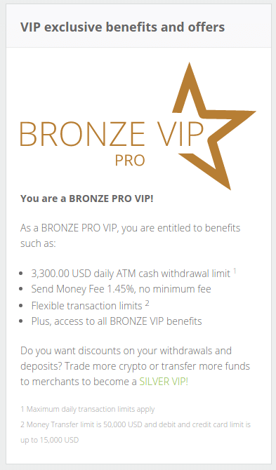 bronze pro VIP