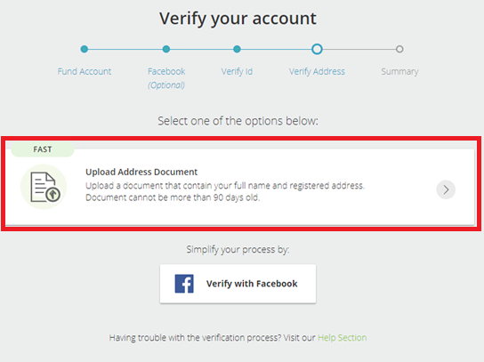 NETELLER Verification 2019 - step 4