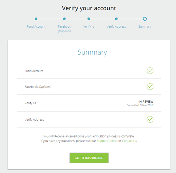 NETELLER verification - step 4