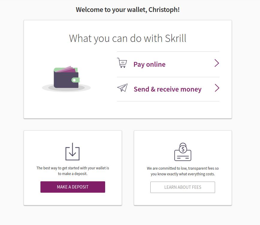 verify Skrill - Deposit