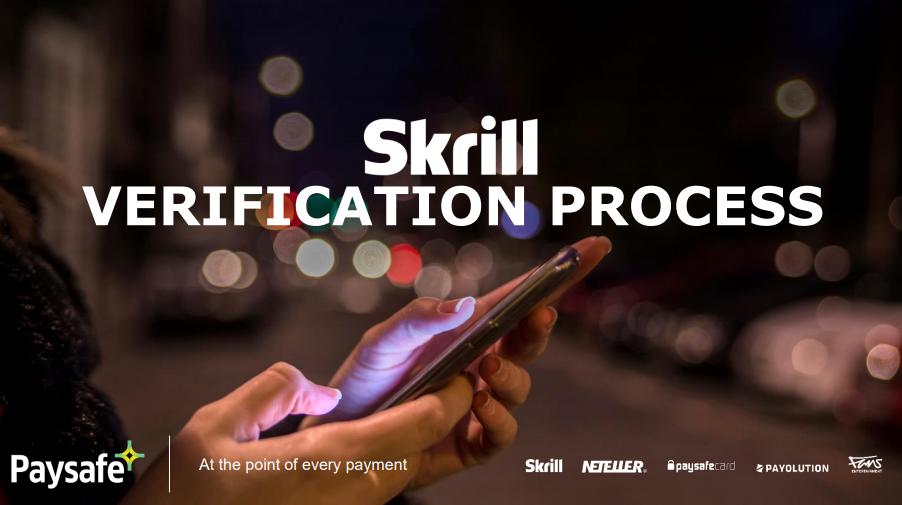 Skrill Verification Changes